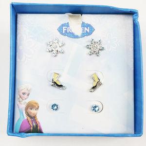 3 Pair Disney Frozen Movie Stud Earrings